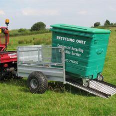 Wheelie bin trailer