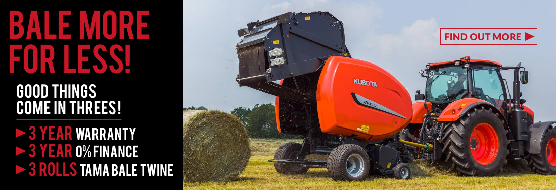 Kubota Farm Baler Promotion, Wales, South England, Devon, Farm Machines Special Offers