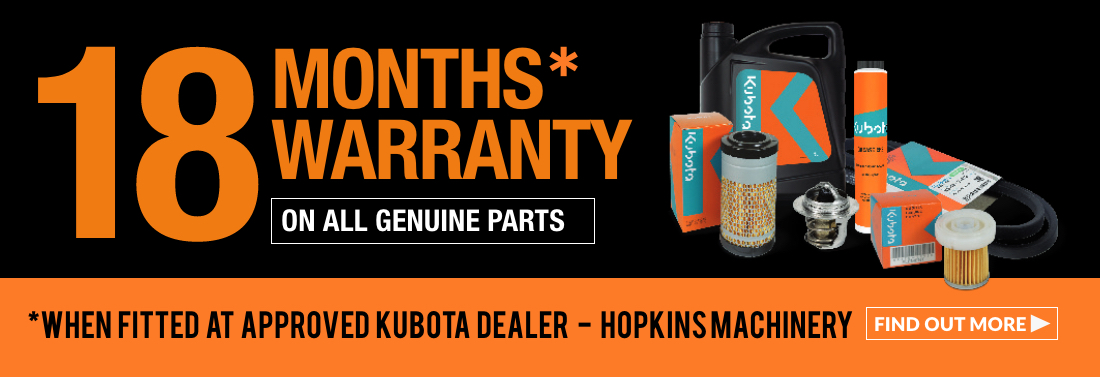 Kubota Spares, Warranty Special Offers, Ted Hopkins, UK